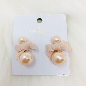 Kate spade pretty pearly earrings blush dust bag